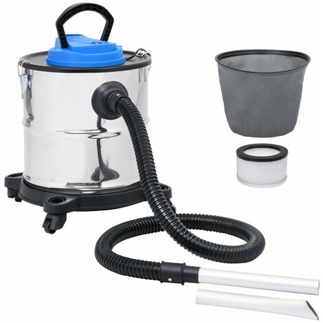 Aspiradora de cenizas filtro HEPA 1200 W 20 L acero inoxidable - Plateado