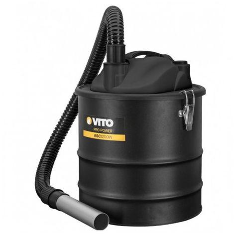 Aspiradora de cenizas VITO 1200W 18L Filtro HEPA. Barbacoas y estufas hasta 50°C. Soplador limpieza automática del filtro