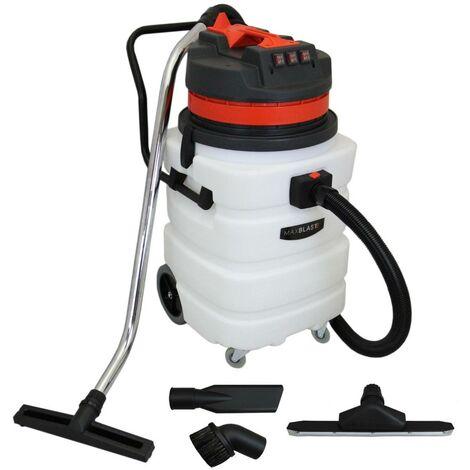 Aspiradora Industrial 90L, Accesorios para Aspiración en Seco y Húmedo, Limpieza Profesional
