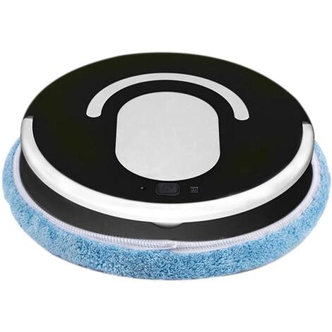 Aspiradora robot Mopping robot completamente automatico Mopper potente succion bajo ruido Diseno Barrido USB recargable Sweeper 3 Limpieza modos, Negro