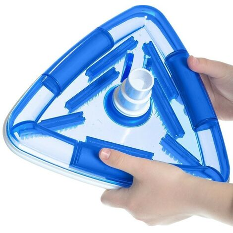 Aspiradora triangular con cepillo para el revestimiento de la piscina