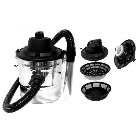 Aspirateur à cendres 1200W - filtre lavable et filtre métallique - 18 L