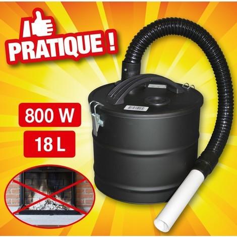 aspirateur à cendres 800W 18 litres