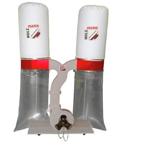 Aspirateur à copeaux de bois 2 x 200 L 400 V - 2200 W ABS3880-400V - Holzmann - -