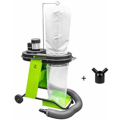 Aspirateur à copeaux de bois 65 litres - 550 W 230 V - Avec démarrage synchronisé pour machines 2,4 Kw max.