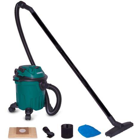 Aspirateur à eau et poussière 1000W - Réservoir de 12L et câble d\'alimentation de 5m – Buses, filtres et sac d\'aspirateur inclus