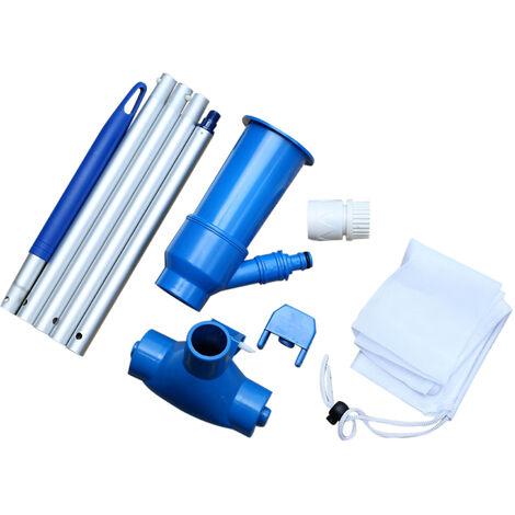 Aspirateur a jet de spa pour piscine avec brosse et mat de 4 pi, ideal pour les piscines hors sol et gonflables, les spas, les etangs, les cascades, aucun systeme de pompe-filtre ou d'alimentation electrique requis,modele:Multicolore