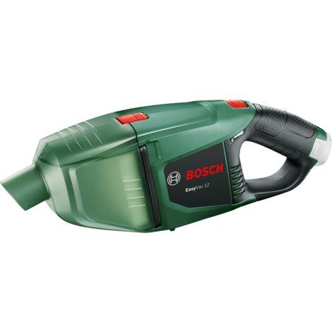 Aspirateur à main sans-fil EasyVac 12 Bosch - Livré avec: 1 suceur à brosse, 1 suceur droit, 1 suceur articulé à brosse, 2 tubes d'extension, 1 unité de filtre, 1 porte-accessoire.