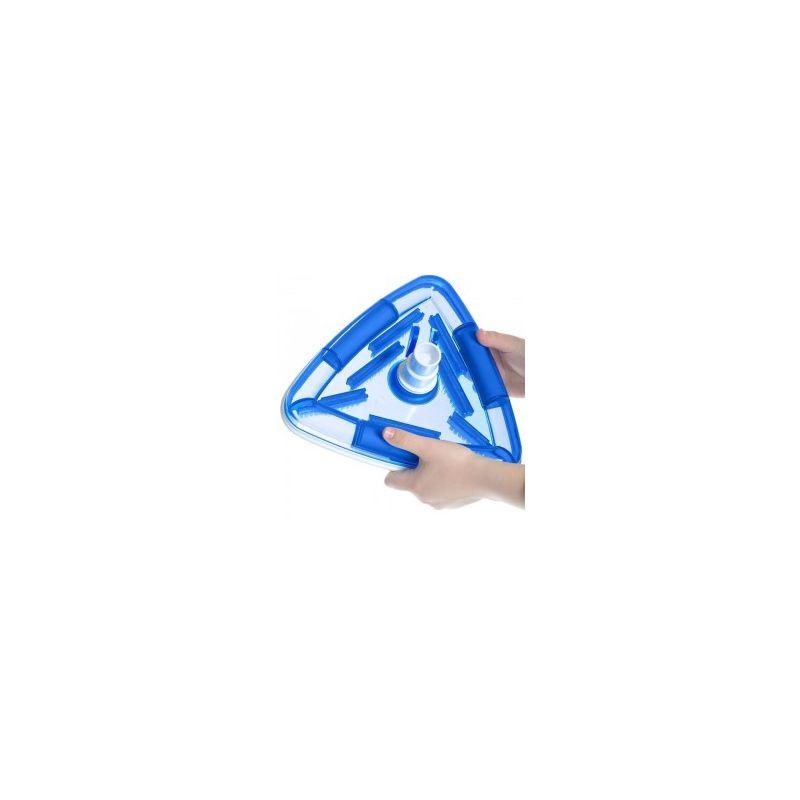 jardiboutique Aspirateur Balai Triangulaire avec Brosse Transparent pour Piscine Liner aspirateur de Fond Manuelle