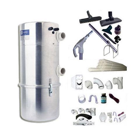 Aspirateur central AENERA 1300LII garantie 2 ans (jusqu'à 180 m²) + trousse inter 9 ML + 8 accessoires + kit 3 prises + kit prise balai + kit prise garage