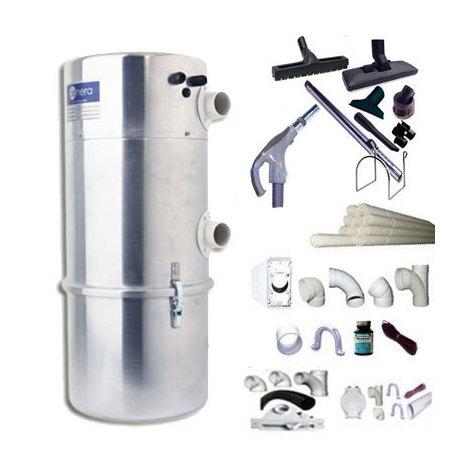 Aspirateur central AENERA 1800 PLUS II garantie 2 ans (jusqu'à 300 m²) + trousse inter 9 ML + 8 accessoires + kit 3 prises + kit prise balai + kit prise garage