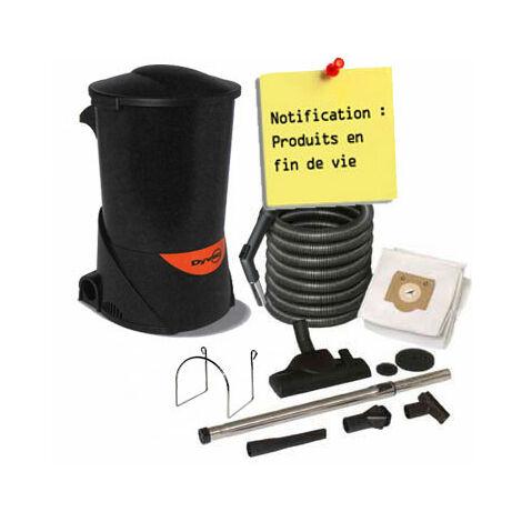 aspirateur centralisée DYVAC pack DYVAC Garantie 2 ANS (jusqu'à 300 m²) + set de nettoyage standard 10 m + 7 accessoires