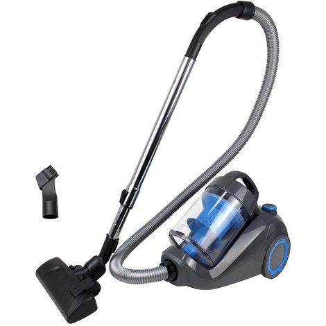 Aspirateur Cyclonique, Aspirateur Traîneau sans Sac, Bleu, Capacité du bac à poussière: 2,5 L