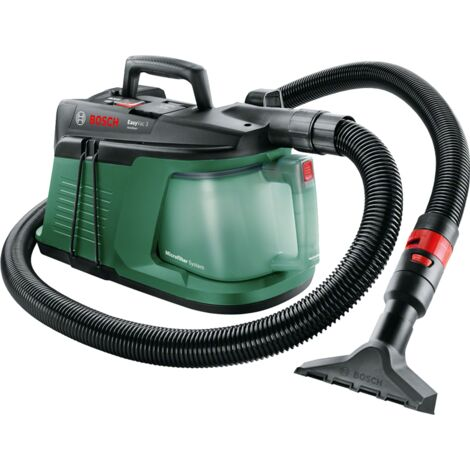 Aspirateur d'atelier Bosch - EasyVac 3 (livré avec filtre plat, suceur et sacs d'aspirateur, volume 3L)
