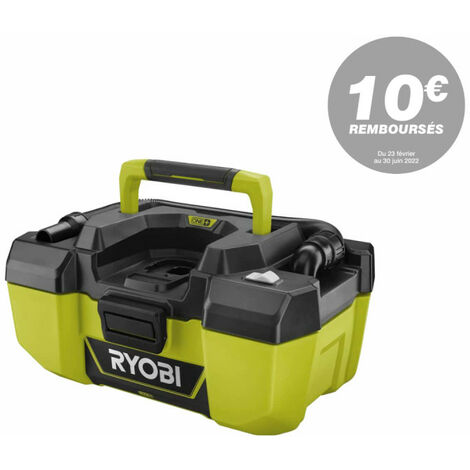 Aspirateur d'atelier RYOBI 18V One Plus - sans batterie ni chargeur - R18PV-0