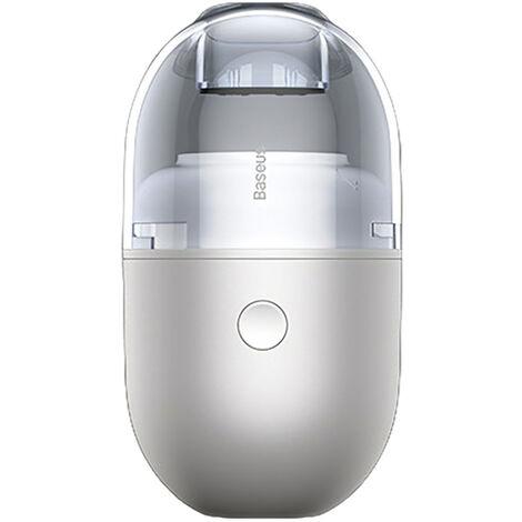 Aspirateur de bureau Mini clavier aspirateur sans fil Aspirateur electrique portable pour poils d'animaux C2 Aspirateur a capsule de bureau (batterie seche),modele:Blanc