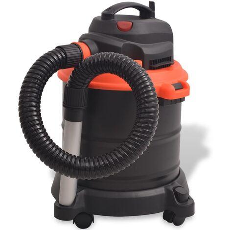 Aspirateur de cendre 1200 W 20 L Noir et Orange