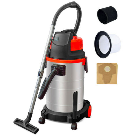 Aspirateur eau et poussière 1600W - 30 litres cuve inox