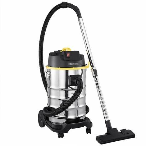 """main image of """"Aspirateur eau et poussière en acier inoxydable avec accessoires 1800W Capacité 30L Aspirateur multifonction"""""""