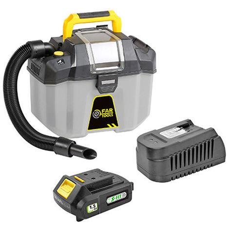 Aspirateur eau et poussières 10 L sans fil KIT XF-VACUUM - 18 V 1,5 Ah avec chageur