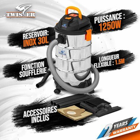 Aspirateur eau et poussières 1250W - 30L Inox