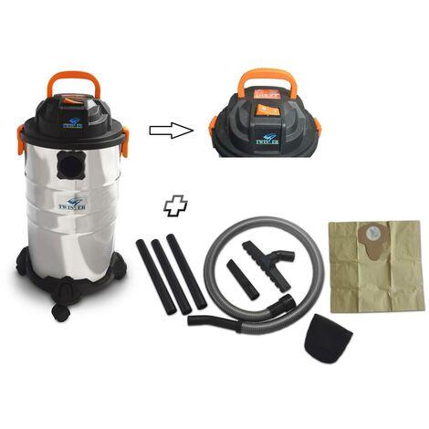 Aspirateur eau et poussières en inox 30L - 1250W - 30L Inox