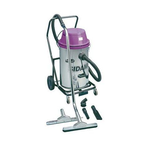 Aspirateur eau et poussières inox 2x1200 w 78 l