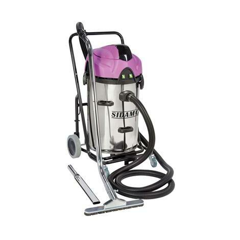 Aspirateur eau et poussières inox à décolmatage spécial ramonage 2x1200 w 78 l