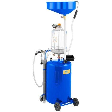 Aspirateur huile moteur pompe de vidange récupérateur huile moteur usée réservoir 75 litres 6 sondes 9 bars max