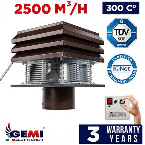 Aspirateur Pour Conduit Rond 30 cm, Extracteur Ventilateur D'aspiration Électrique De Fumée Pour Cheminèe Modèle Base Gemi Elettronica
