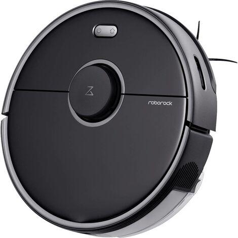 Aspirateur robot Roborock S5 Max Black noir à commande vocale, commandable à distance, commande par application, compat
