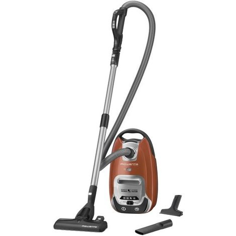 ASPIRATEUR SAC SILENCE FORCE 66DB A-A-A-A ORANGE ROWENTA