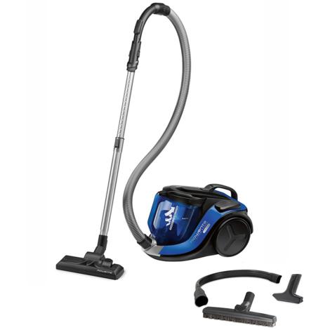 aspirateur sans sac 75db noir/bleu - ro6950ea - rowenta