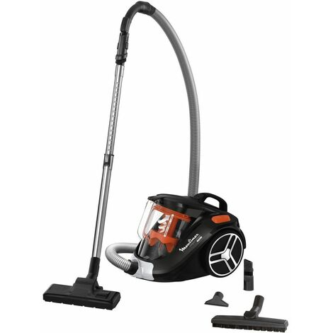aspirateur sans sac 79db noir/orange - mo3745pa - moulinex