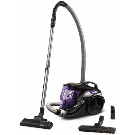 aspirateur sans sac 79db noir/violet - mo3759pa - moulinex