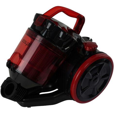 Aspirateur silencieux à remorquage avec filtre, 800W, cm 32.8x24x28.7, couleur Rouge