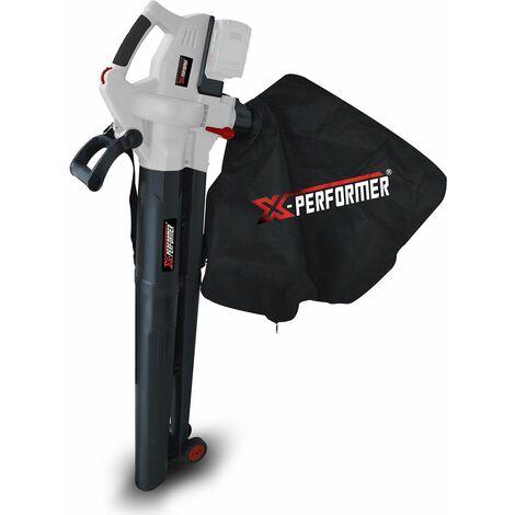 Aspirateur souffleur broyeur de feuilles 40V à batterie X-Performer XPASB40LI-2B - Sac récolteur 45L - sans batterie ni chargeur