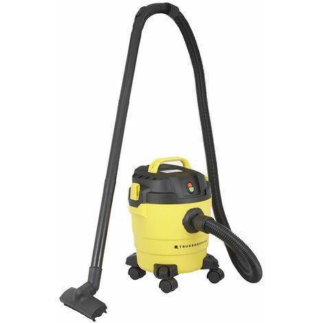 Aspirateur-Souffleur pour Déchets Secs/Humides 1200W Succion 16kPa -Capacité 10L - Yellow