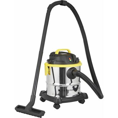 Aspirateur-Souffleur pour Déchets Secs/Humides 1200W Succion 16kPa -Capacité 20L - Silver