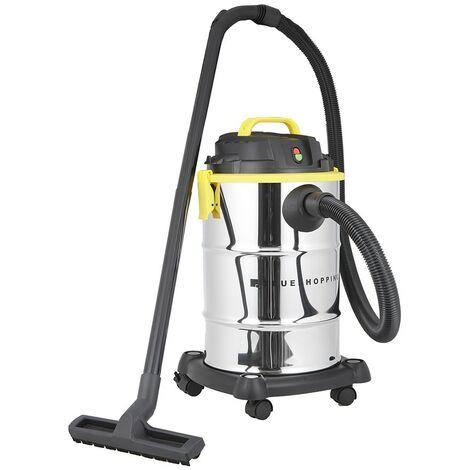 Aspirateur-Souffleur pour Déchets Secs/Humides 1200W Succion 16kPa -Capacité 30L - Silver