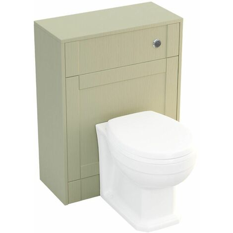 Aspire Traditional Bathroom Cloakroom BTW Back to Wall Toilet Soft Close Seat