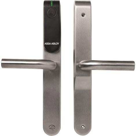 Assa Abloy 5001-118A--112- - Ensemble béquille E100 Aperio aveugle - Lecteur RFID 125Khz
