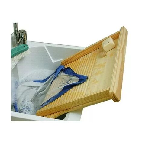 Asse da lavare in legno Danubio 72x42cm per lavare a mano Tomaino
