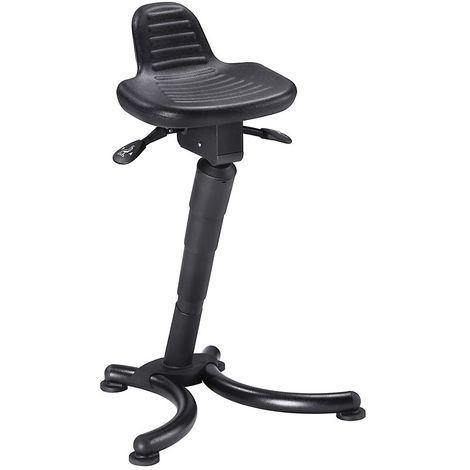 Assis-debout - assise plate avec dosseret rallongé - hauteur réglable par lift à gaz