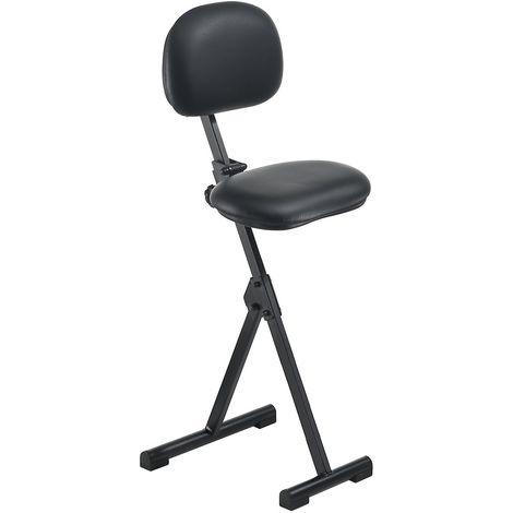 Assis-debout - hauteur réglable de 550 à 900 mm, sans repose-pieds - habillage similicuir noir