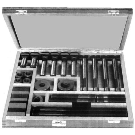 Assorted fasteners for T-slots No. 6520 Steel Plain