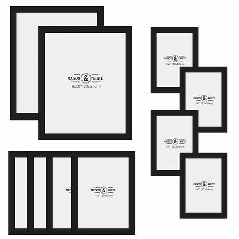 Assorted Photo Frames - Set of 10 | M&W Black
