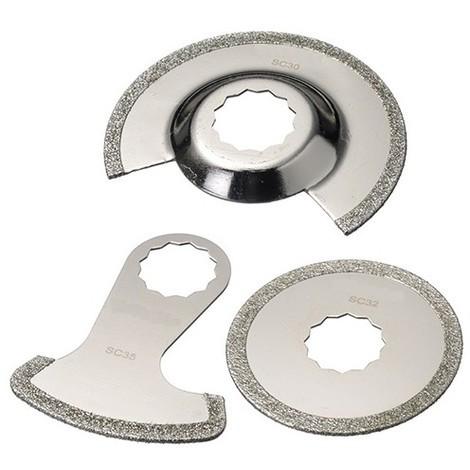Assortiment 3 pcs de lames de scie oscillante SuperCut diamanté - Joint, époxy et colle - ZOSSET5 - Labor
