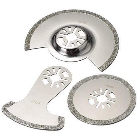 Assortiment 3 pcs de lames de scie oscillante universelle diamanté - Joint, époxy et colle - ZOUSET5 - Labor