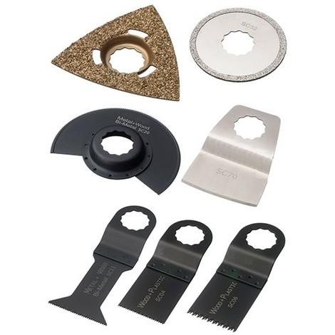 Assortiment 7 pcs de lames de scie oscillante SuperCut multi-usages - Bois, métal, joint, époxy - ZOSSET7 - Labor